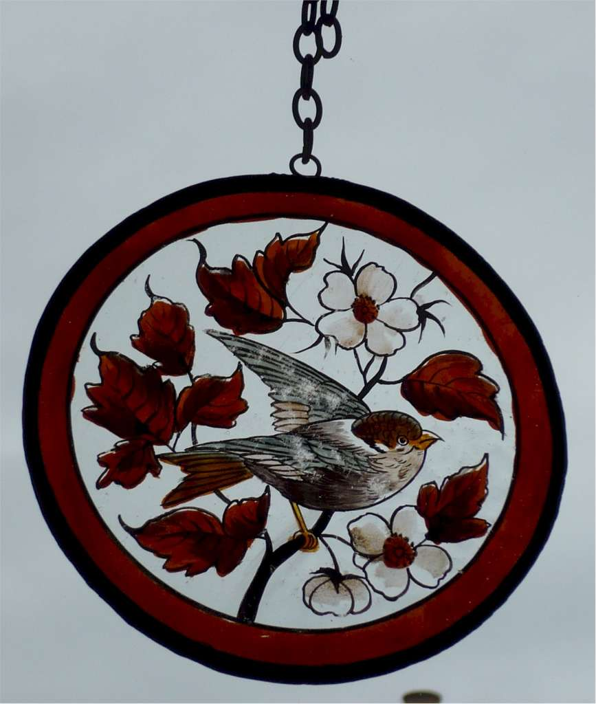 Window hanger painted bird