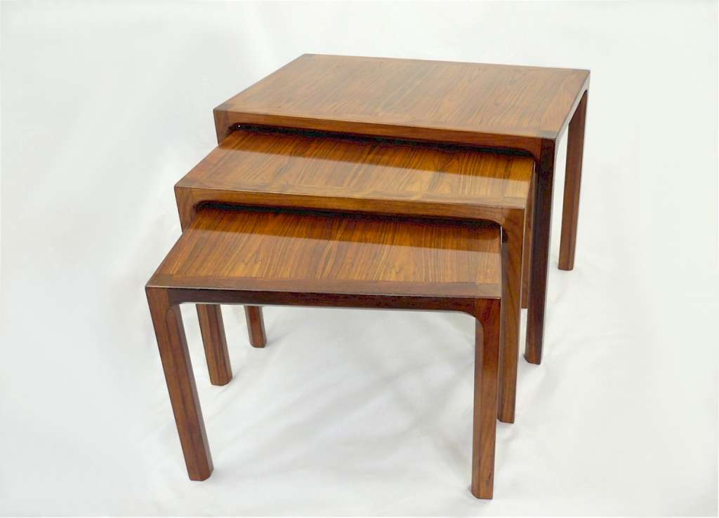Mid Century Modern nest of tables in rosewood