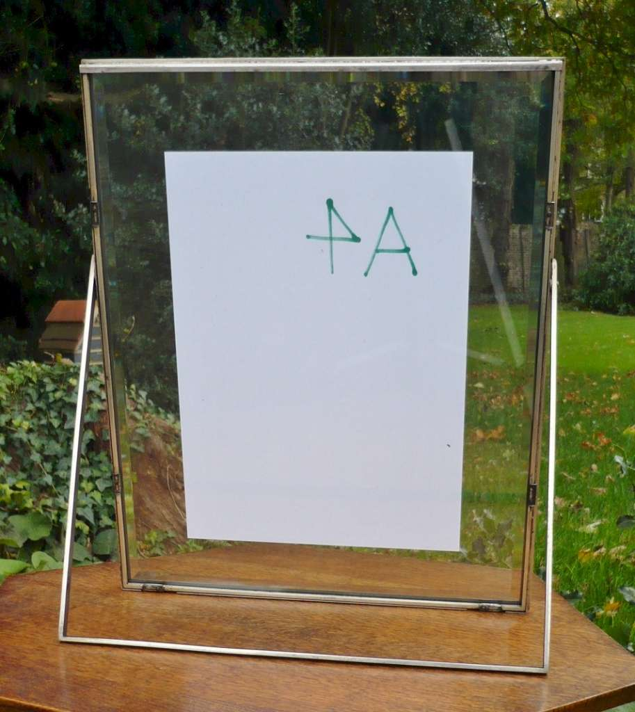 Larger deco picture frame with beveled glass