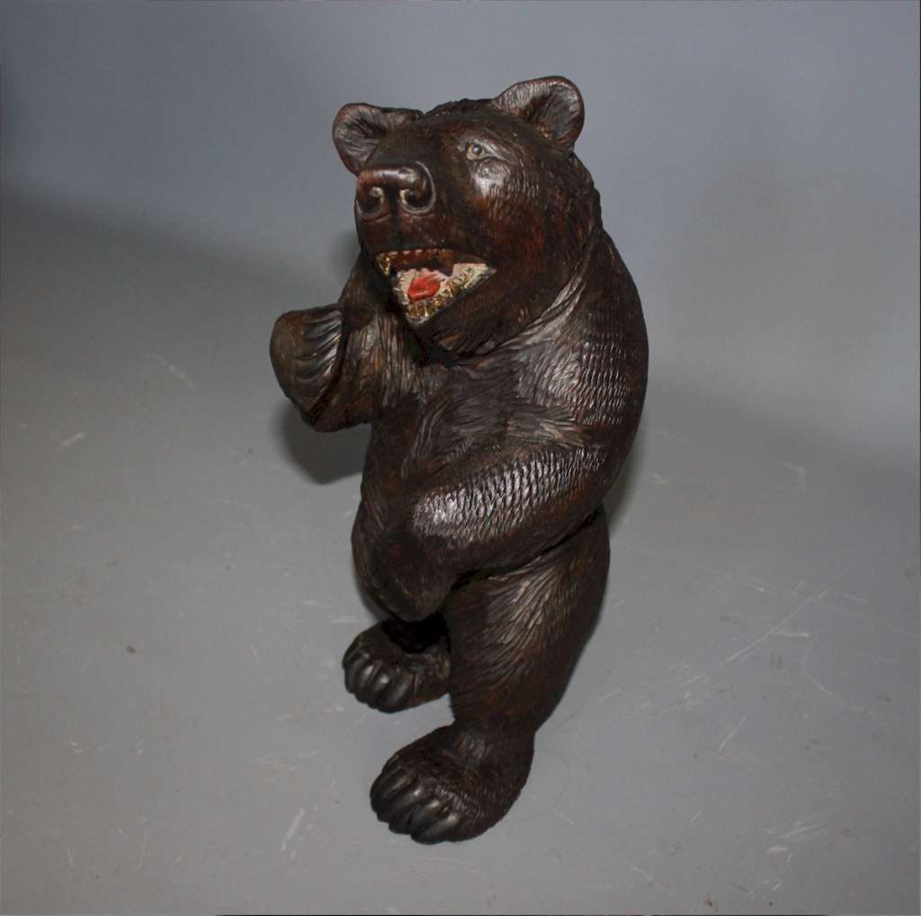 Black Forest wooden carved bear