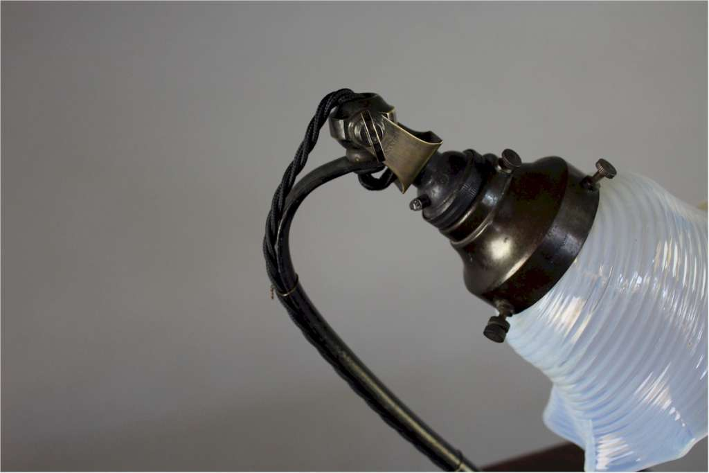 W.A.S Benson arts and crafts table lamp. c1900