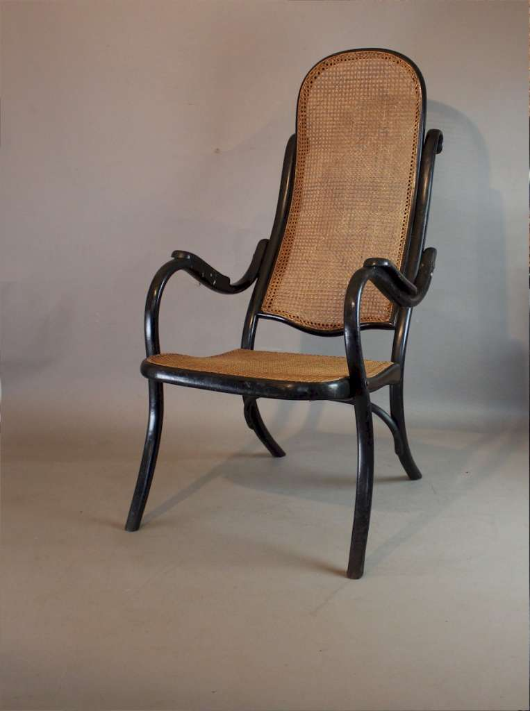 Thonet high back bentwood fireside chair No 6351