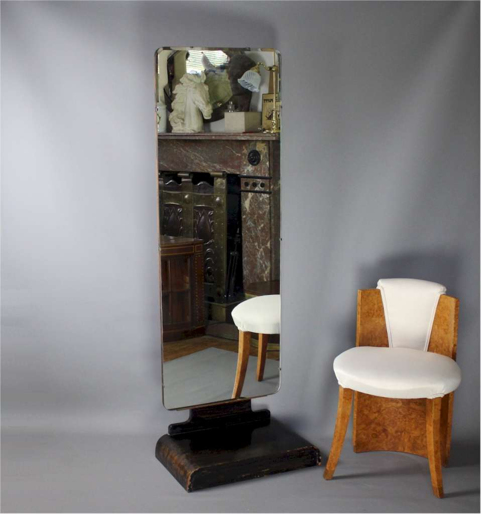 Art Deco Modernist cheval mirror by Bowman Bros