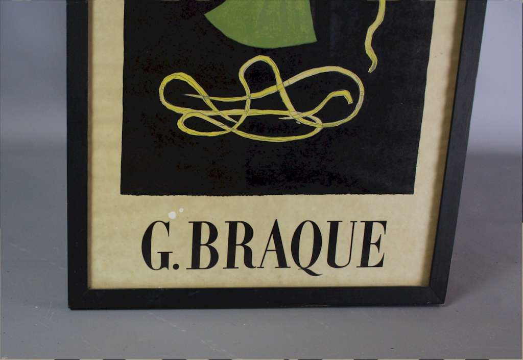 Georges Braque framed poster Theogonie, Galerie Maeght
