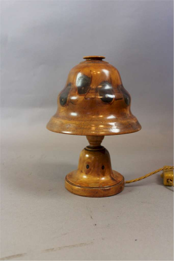 Brazilian Palm wood lamp circa 1920