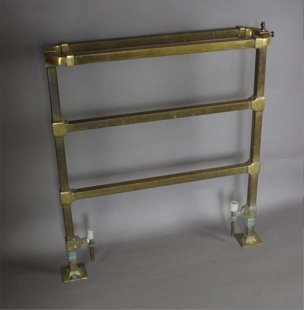 Brass bathroom towel rail c1930