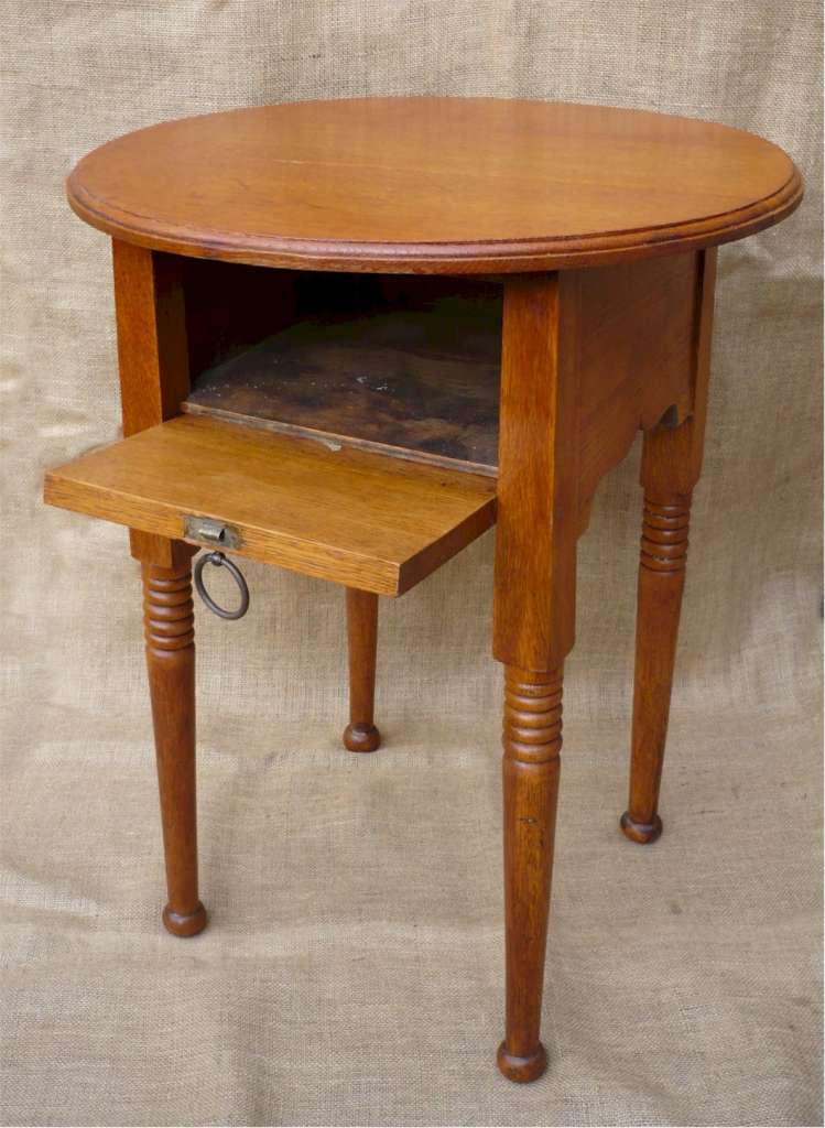 Arts and crafts side table . William Birch