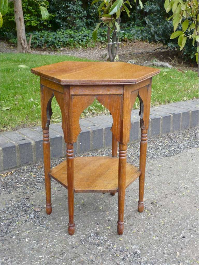 Arts and crafts Moorish table for Liberty & Co