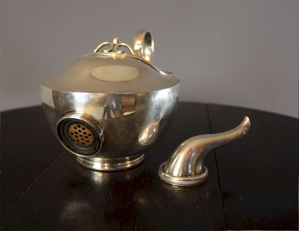 Silver Plated Campaign teapot.