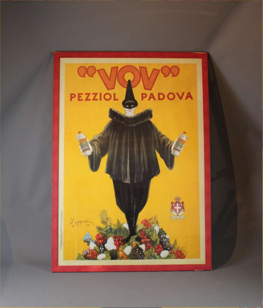 Large Italian advertising poster VOV by Leonetto Cappiello