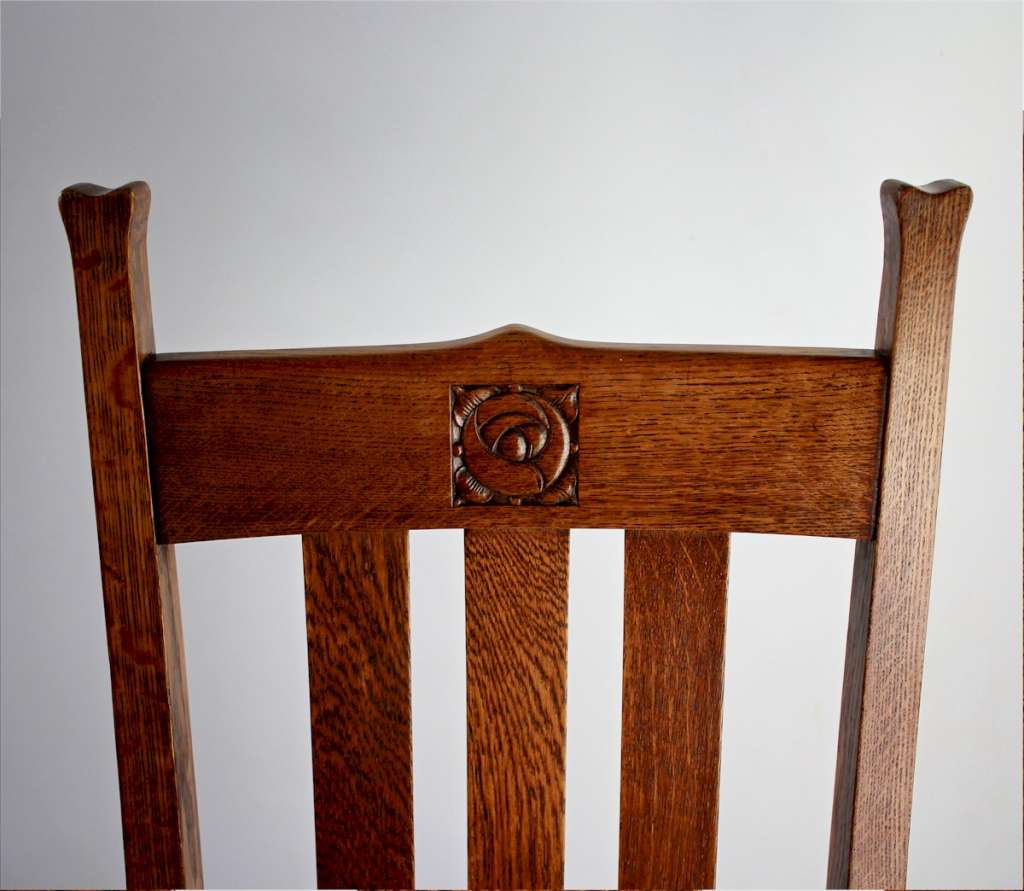 Scottish Rose arts and crafts dining chairs