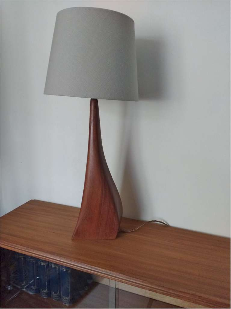 Mid Century table lamp in teak