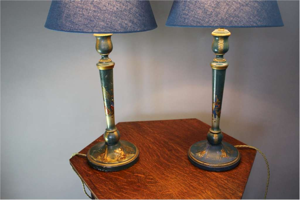 Pair of Chinoiserie table lamps c1930's