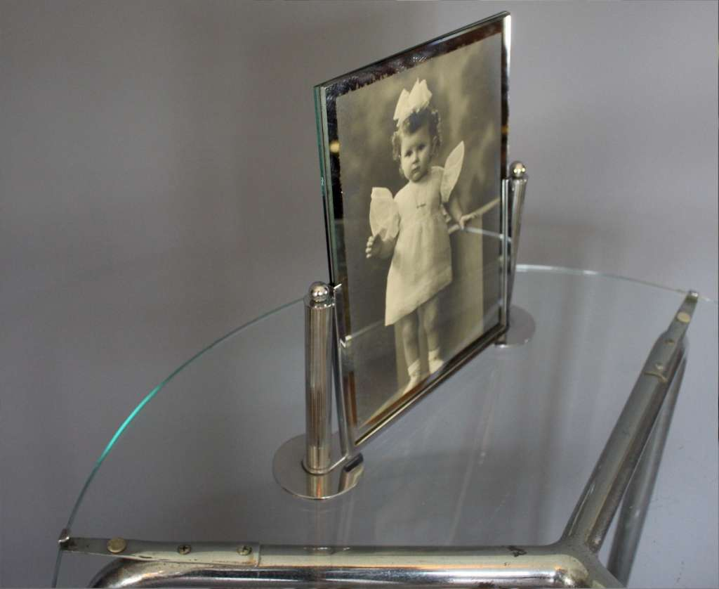 Art Deco chrome photo frame