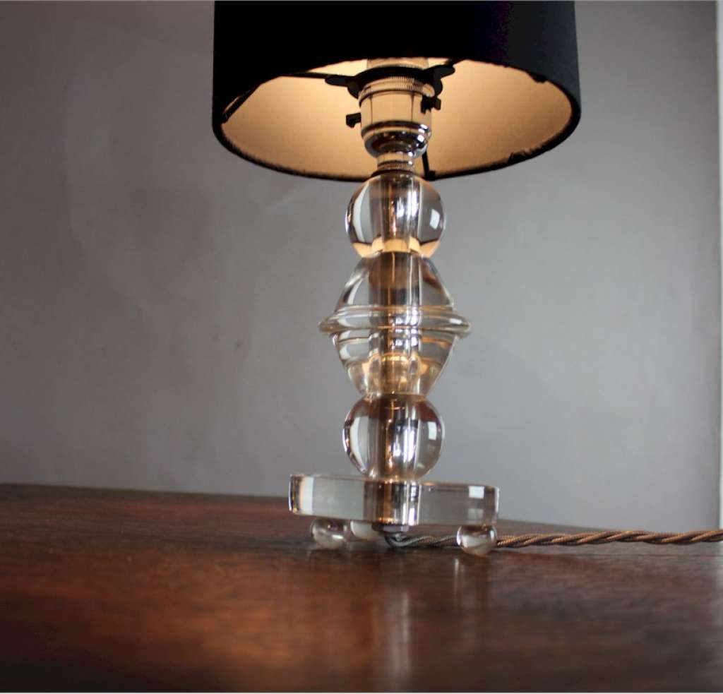 French Chrystal table lamp