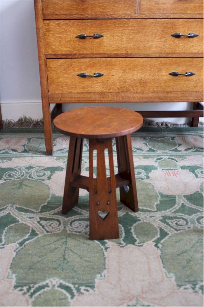 Classic arts and crafts oak wine table