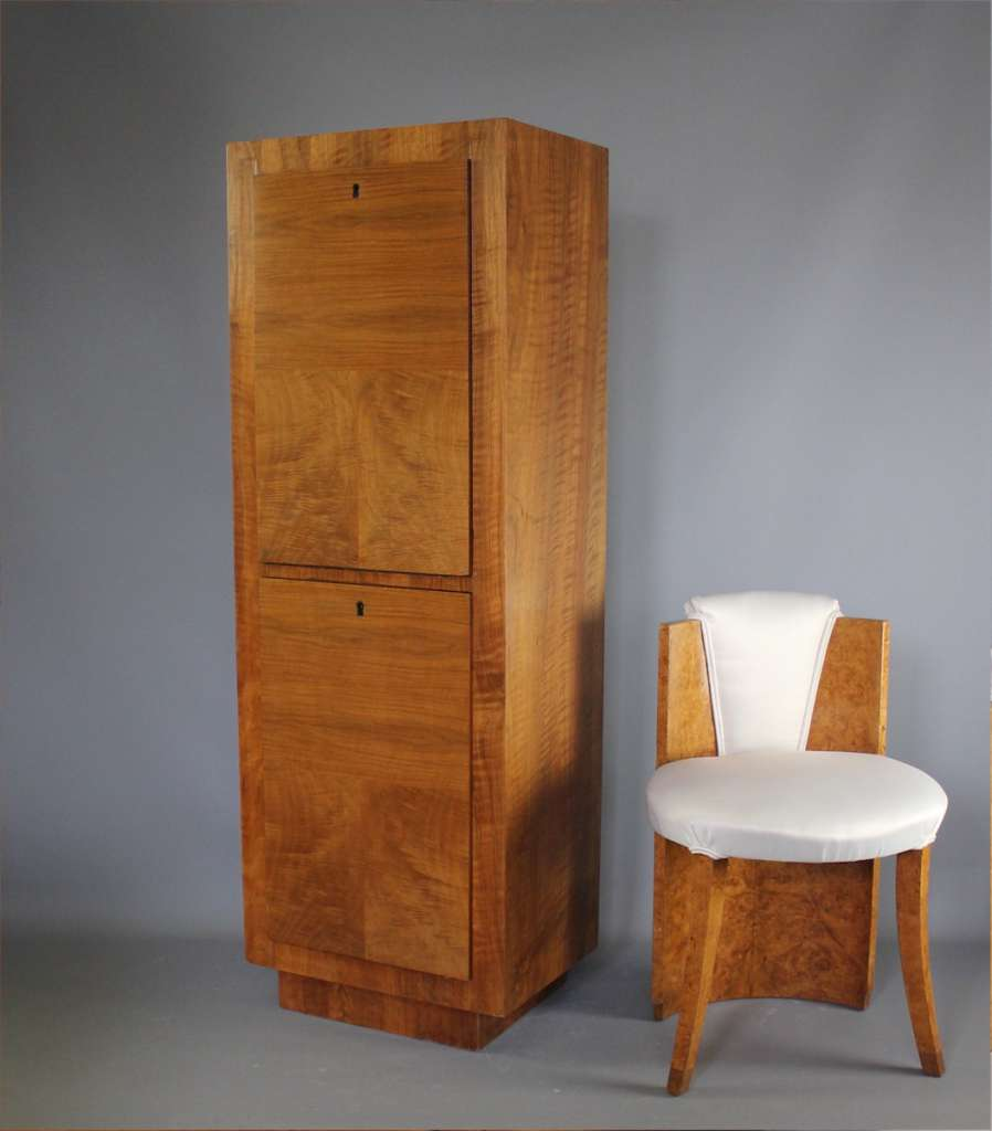 Art Deco walnut cocktail cabinet
