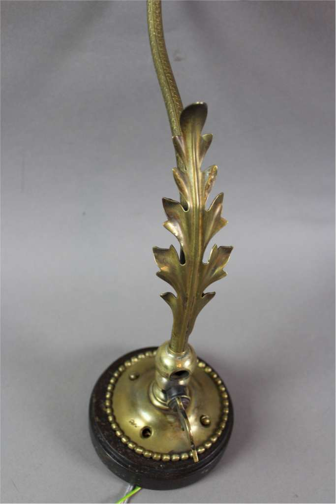 Victorian brass wall light with craberry shade