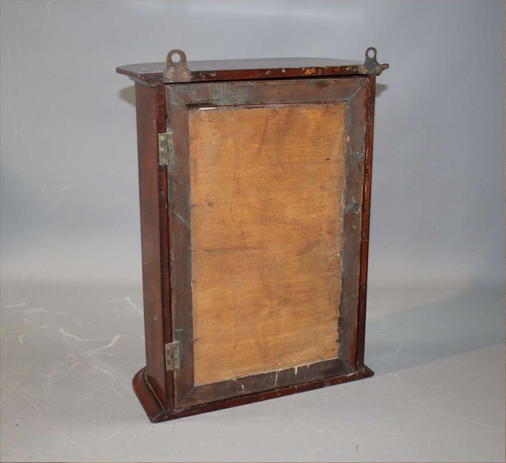 Victorian curved glass shop display cabinet
