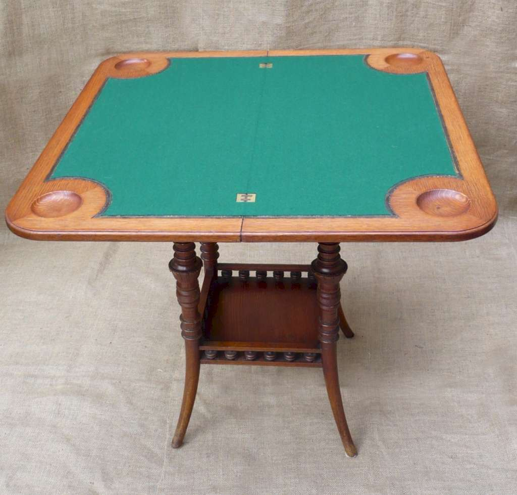 Aesthetic Movement hall games table in oak