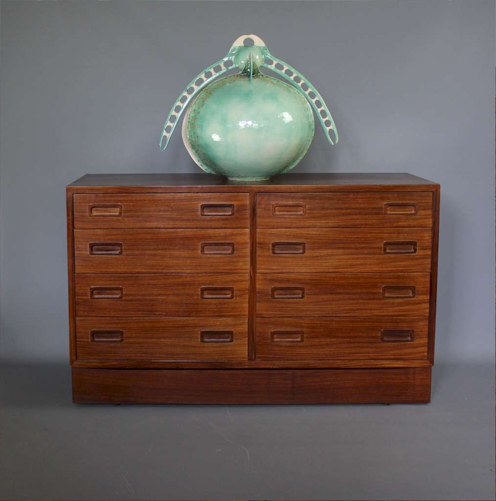 mid-century double chest in rosewood Danish by Poul Hundevad
