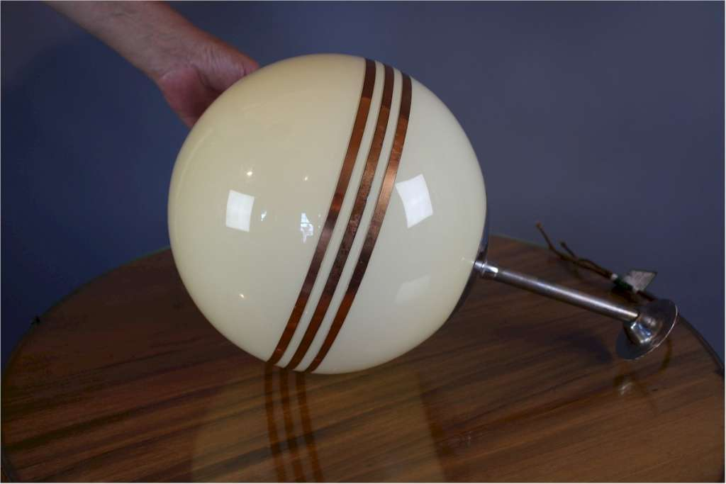 Art Deco globe ceiling light