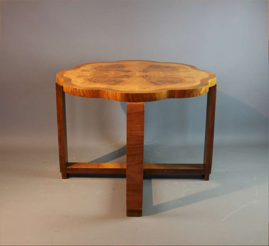 Art Deco figured walnut table Heals