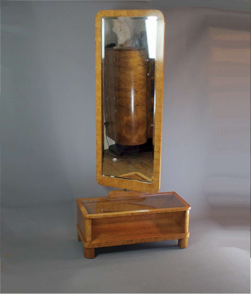 Art Deco Maple dressing mirror