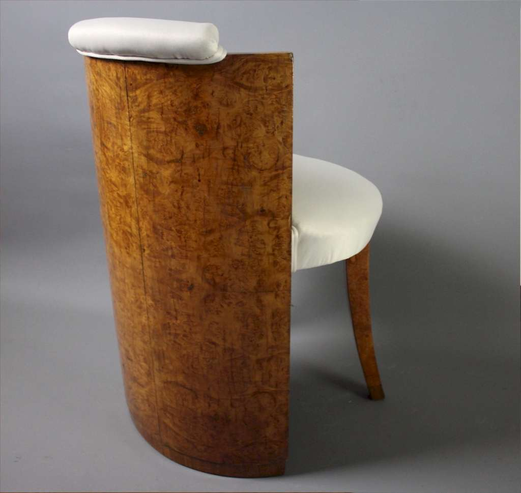 Art Deco maple dressing table stool