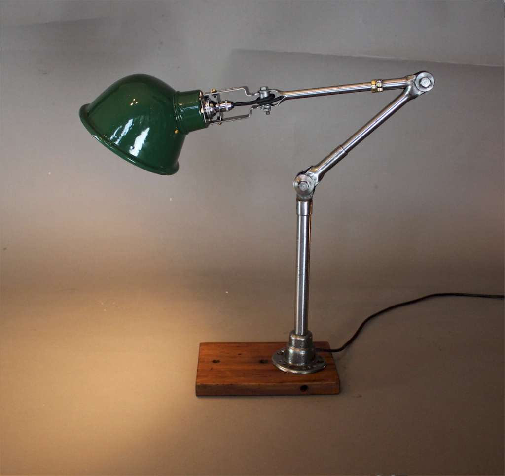 Dugdills steel articulated workshop lamp