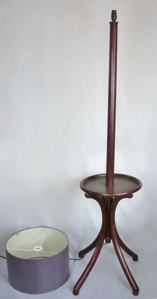 Bentwood standard lamp with integral table
