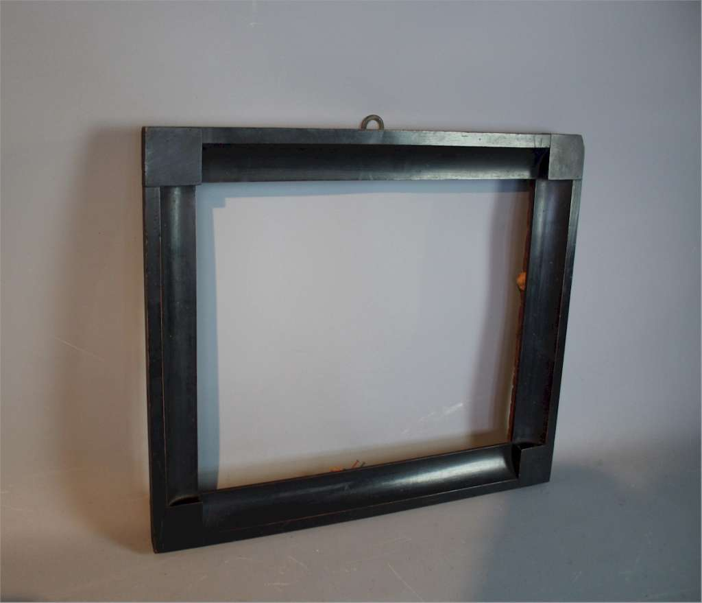 Victorian Ebonised wooden picture frame