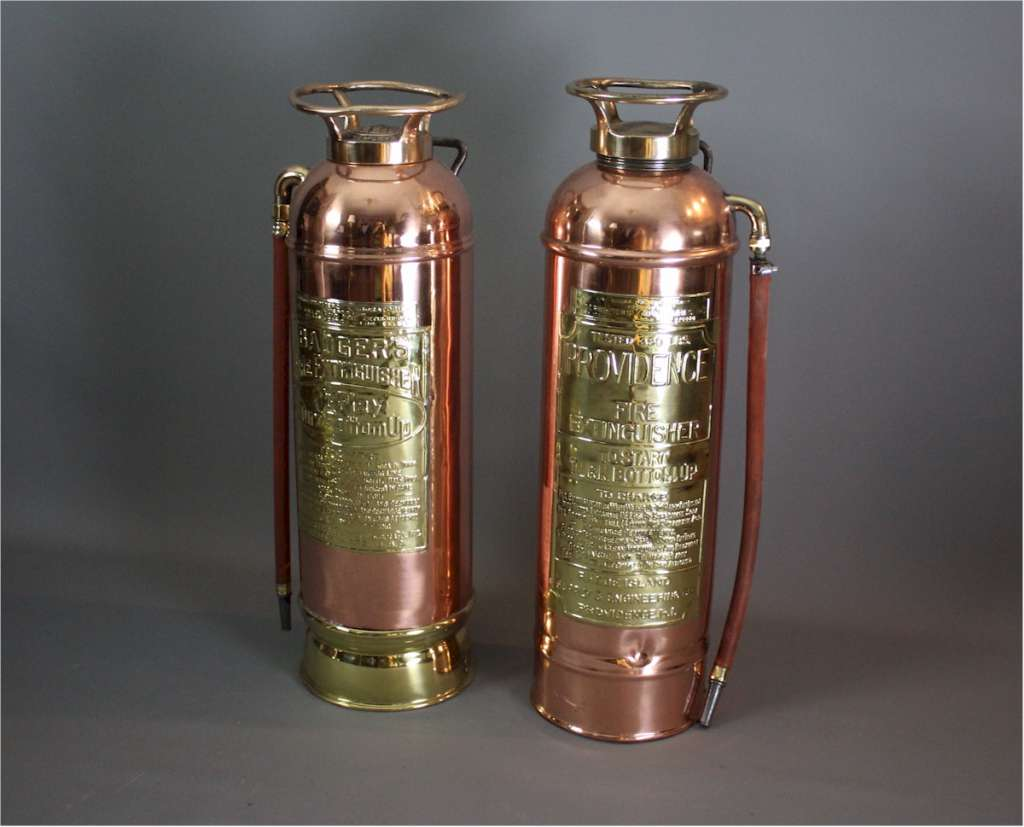 American highly polished fire extinguisher