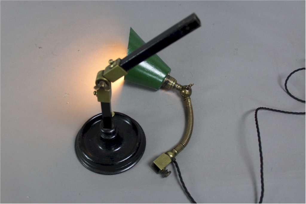 Industrial ,adjustable , work lamp c1930