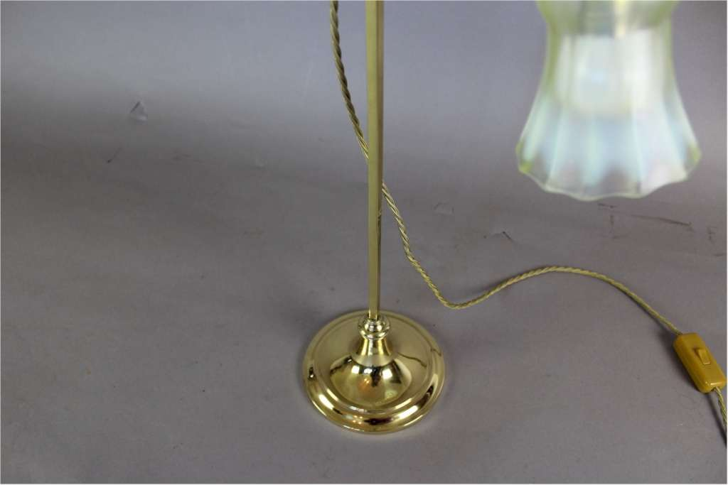 Arts and Crafts adjustable brass table lamp by Faraday & Sons c1900
