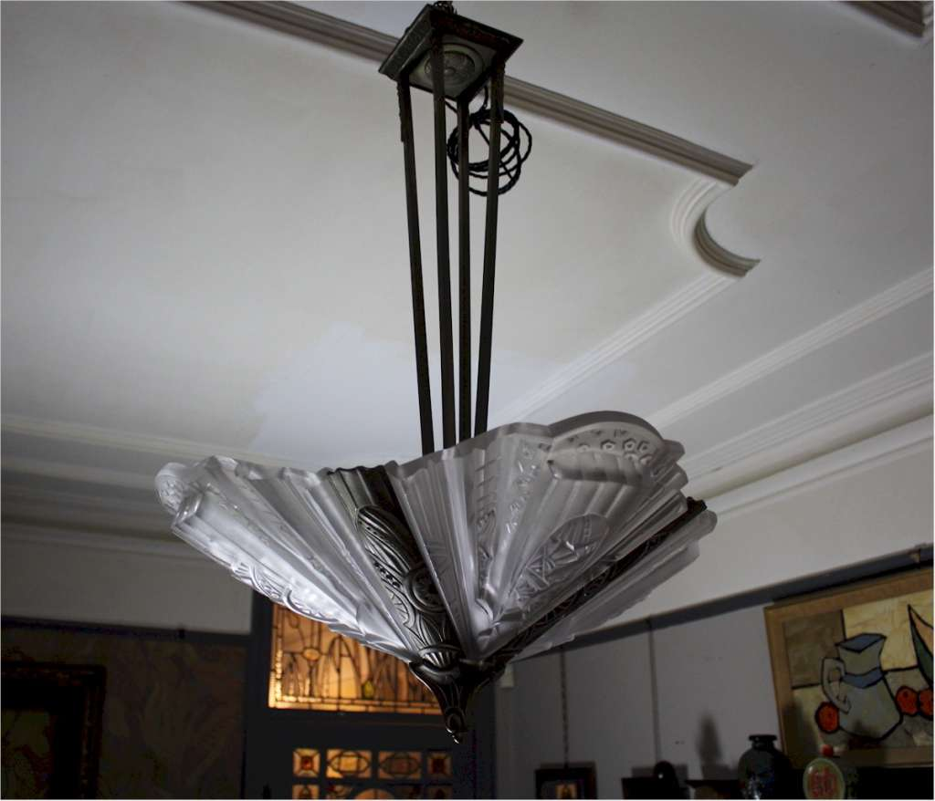 French art deco ceiling light
