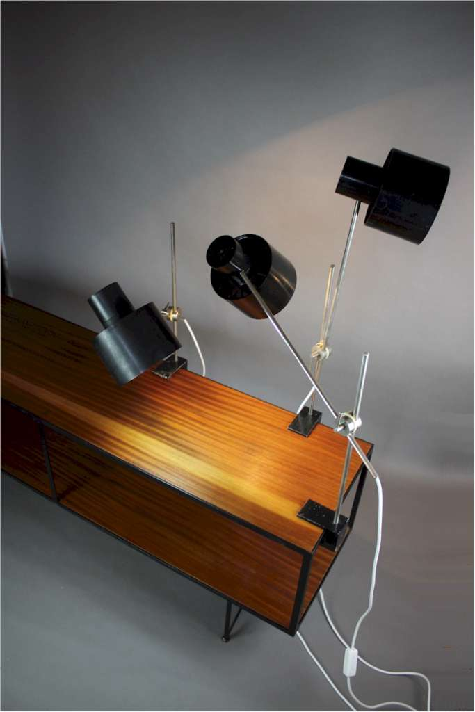 Mid-Century adjustable anglepoise clamp lamp