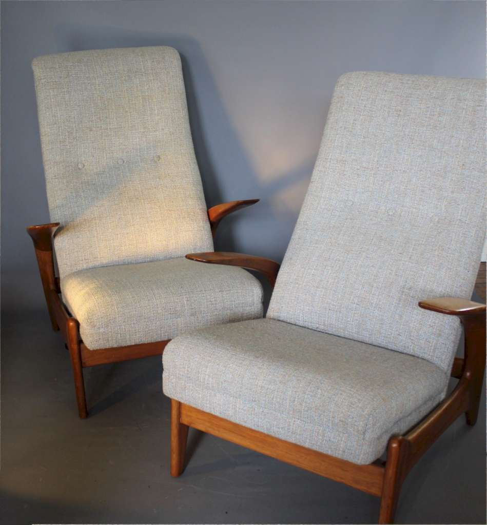 Rock 'N' Rest pair of Teak Armchairs By Gimson & Slater, 1960s