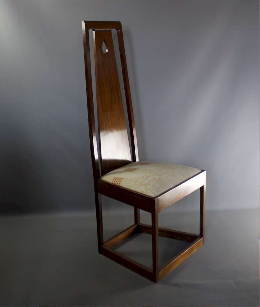 Arts and crafts Glasgow School high back chair