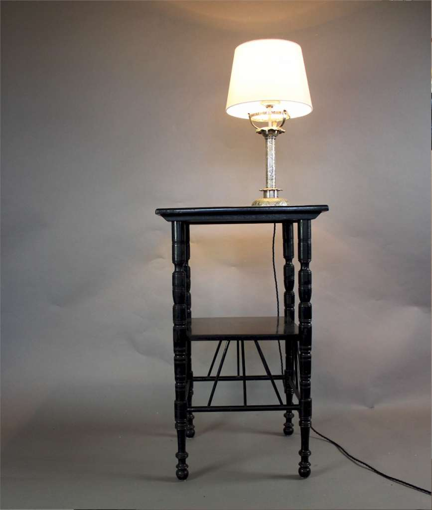 Aesthetic Movement ebonised occasional table after Godwin