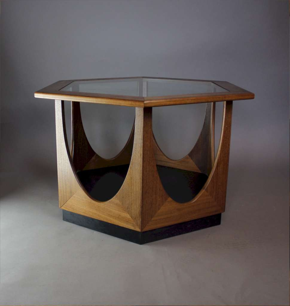 G Plan mid century teak hexagonal coffee table