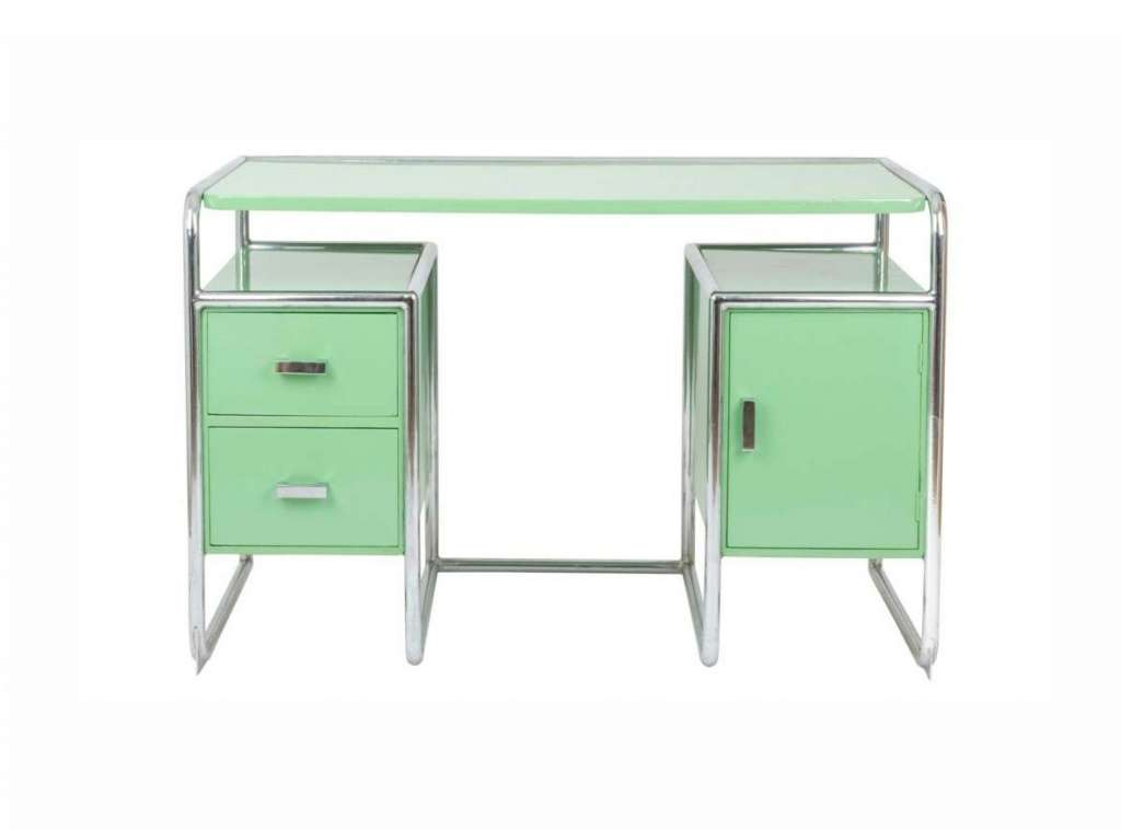 Art-Deco Chromium-Plated Desk by Heal's