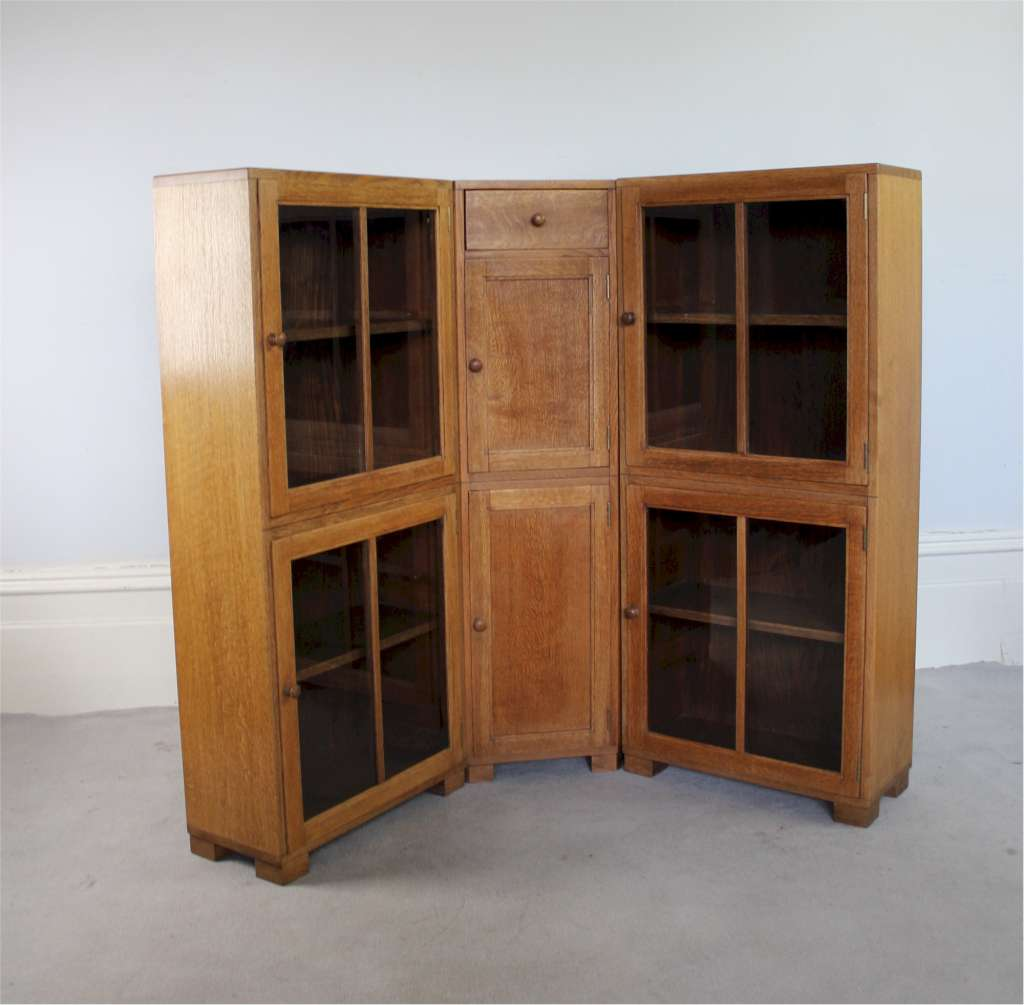 Heals set of three bookcase c1930