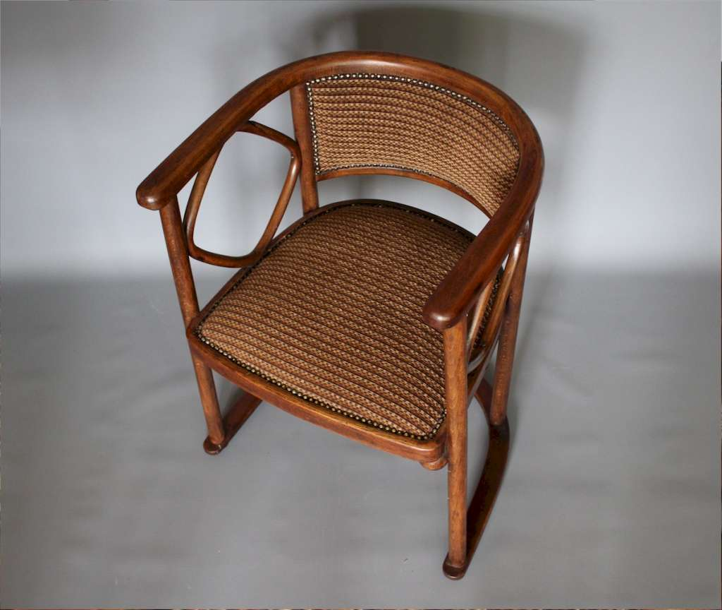 Josef Hoffmann Bentwood Fledermaus tub Chair