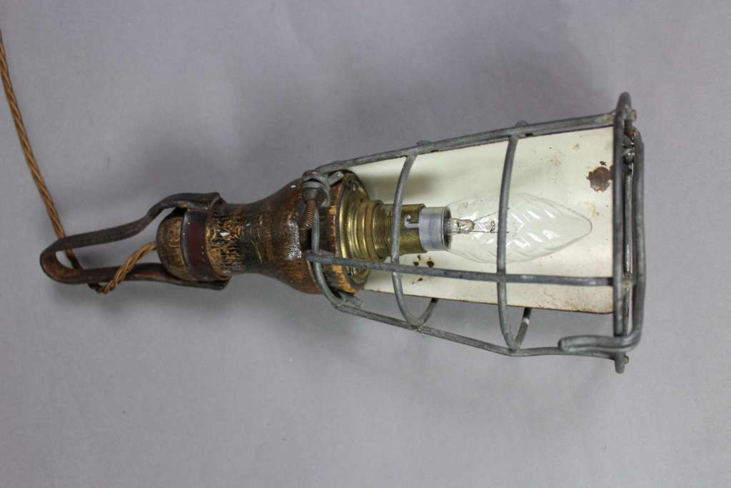Vintage cage inspection lamp