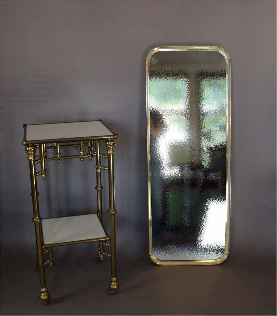 1960's brass and enamelled mirror by Zierform