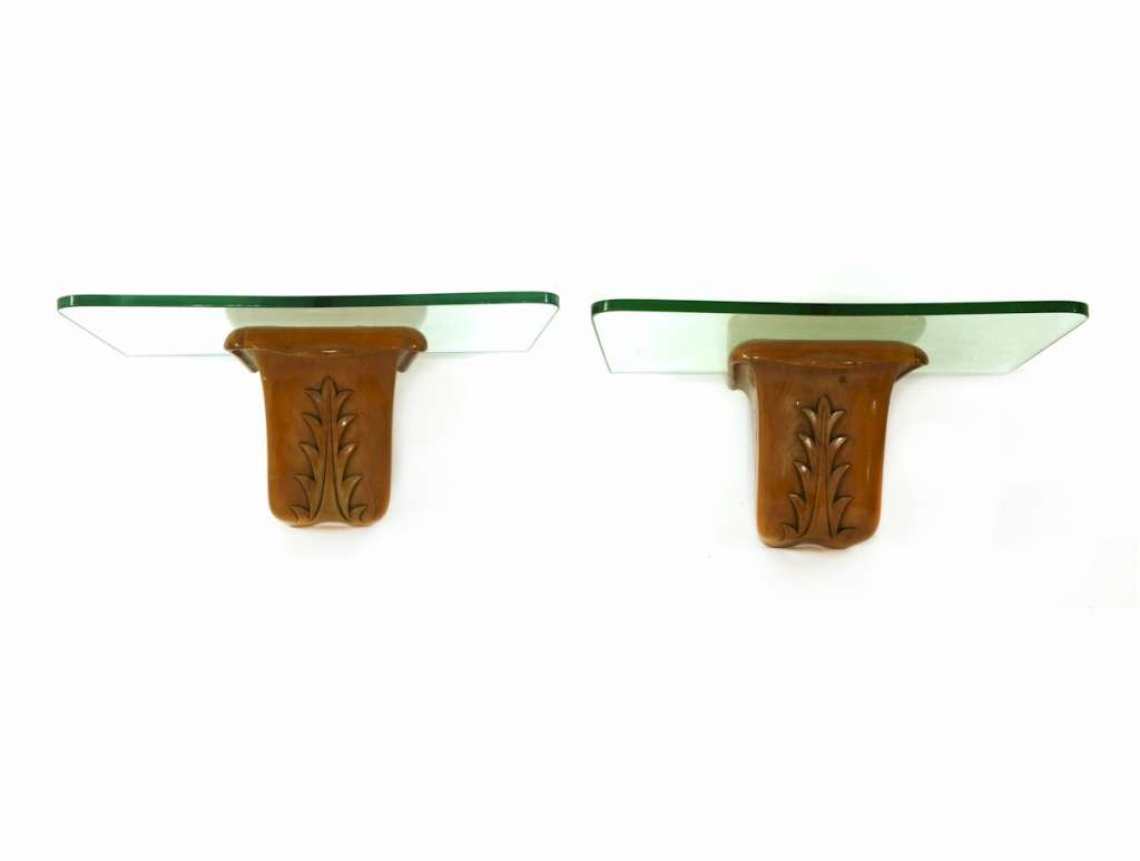 Mid Century pair of Italian console tables