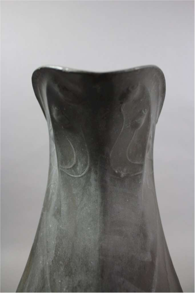 Arts and Crafts / Nouveau Kayserzinn pewter jug. c1900