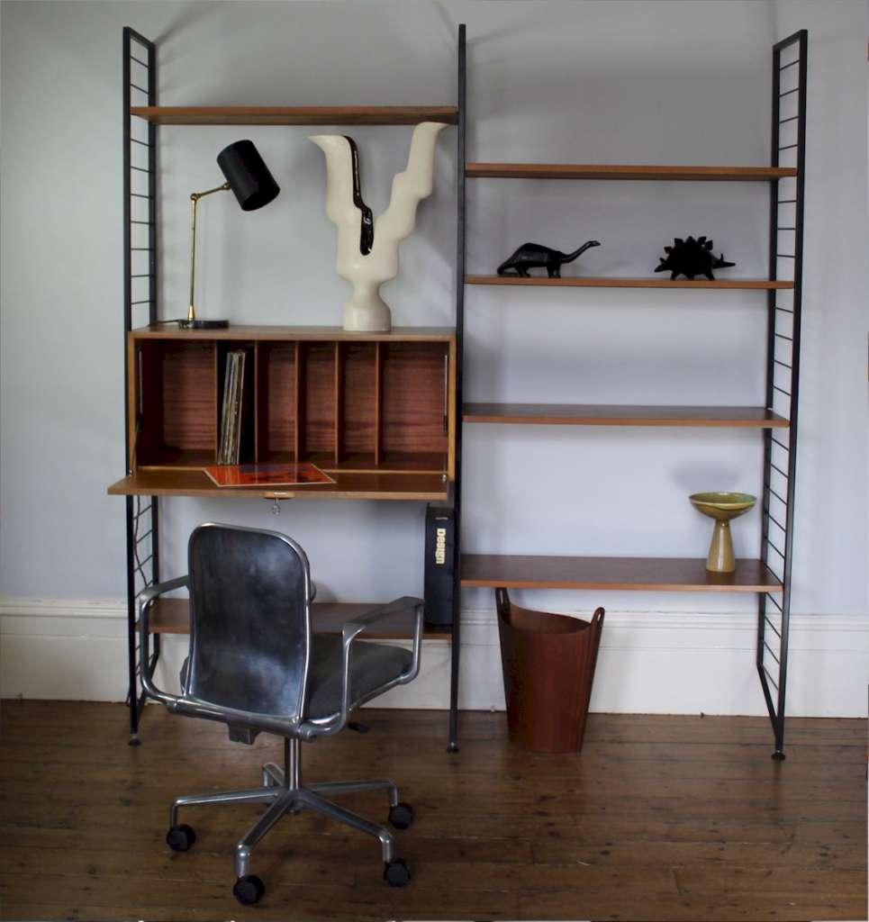 Ladderax shelving system by Staples.