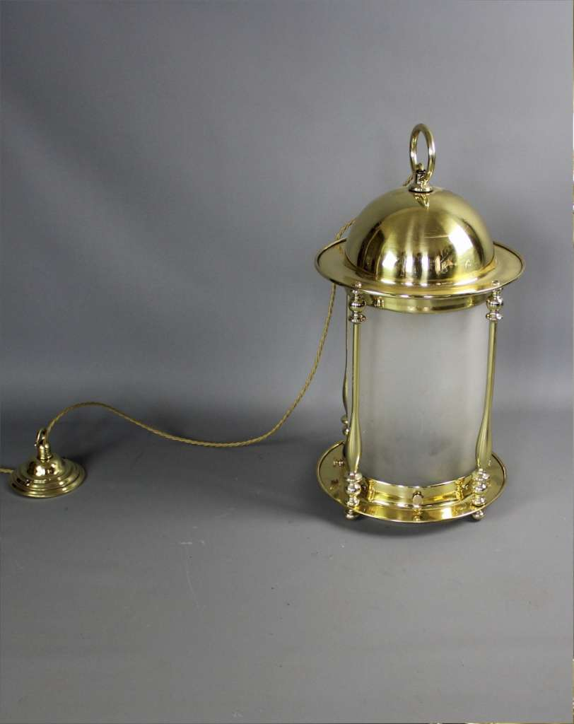 Large Edwardian domed brass lantern